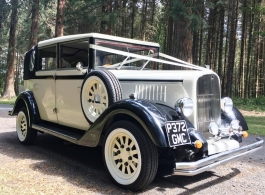 Vintage style wedding car in Burgess Hill